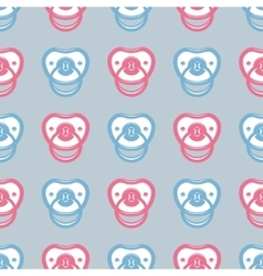 Pacifier pattern vector