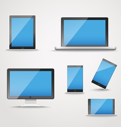 Modern digital device collection vector
