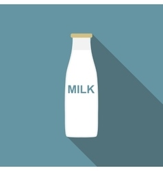 Milk flat icon with long shadow vector
