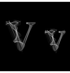 Smoke font letter v vector