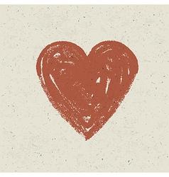 Heart on paper texture vector