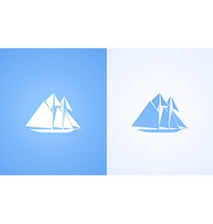 Icon of sailing ship vector