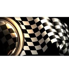 Checkered background horizontal vector