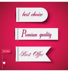 Set of red superior quality and satisfaction vector