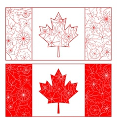 Outline of canada flag vector