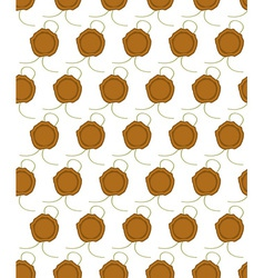 Sealing wax press pattern vector