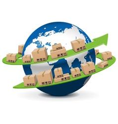 Shipment concept vector
