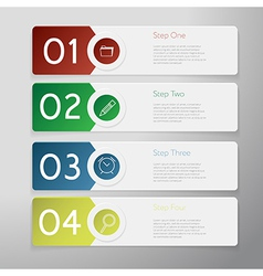 Design number banners template graphic or website vector