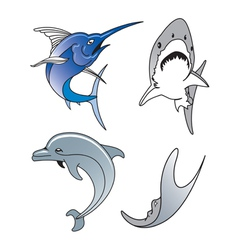 Aquatic wildlife vector