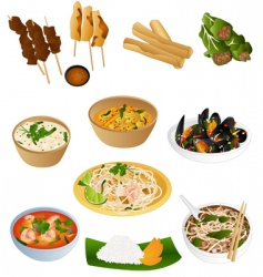 Thai prepared food vector