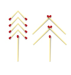 Trees symbols made from matches vector