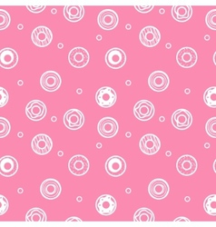 Sweet donuts seamless pattern pastry background vector