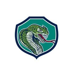 Cobra viper snake shield retro vector
