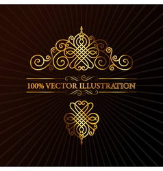 Ornament calligraphic vector elements vector