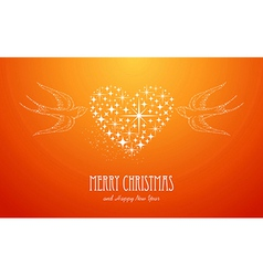 Merry christmas and happy new year stars greeting vector
