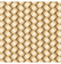 Wickerwork golden metallic background vector
