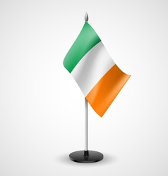 Table flag of ireland vector