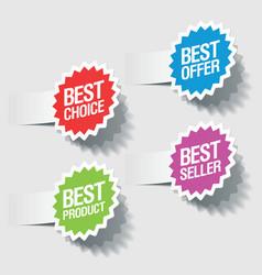 Best choice tags vector