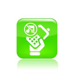 Mute phone icon vector