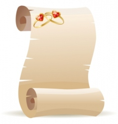 Old scroll for wedding invitation vector