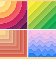 Trendy geometric gradient background pack vector