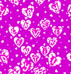 Texture of hearts vector