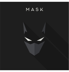 Hero superhero mask flat style vector