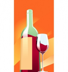 Wine with a glass vector