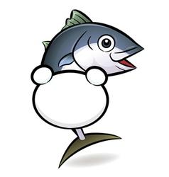 Tuna fish background vector