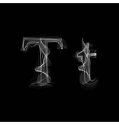 Smoke font letter t vector