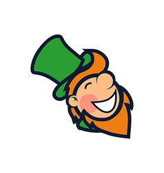 Cheerful leprechaun vector