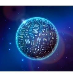 Techno globe vector