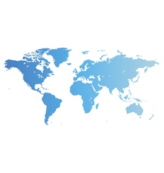 Blue world map vector