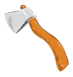 Ax hatchet icon vector
