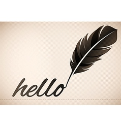 Quill pen text background vector