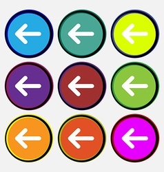 Arrow left way out vector