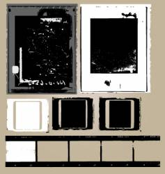 Grunge film elements vector