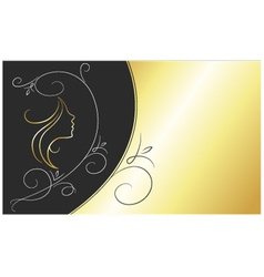 Card for beauty salon vector