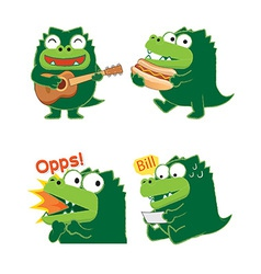 Crocodileacting01 vector