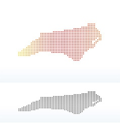 Map of usa north carolina state with dot pattern vector