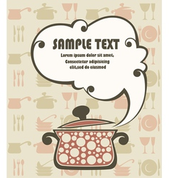 Cook book funny background vector