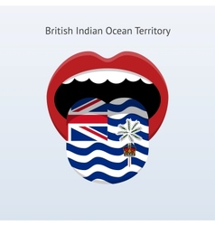 British indian ocean territory language vector