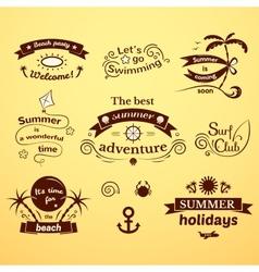 Summer signs set vector