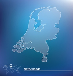 Map of netherlands vector