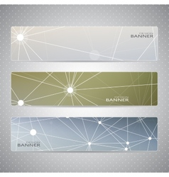 Collection horizontal banners on blurred vector