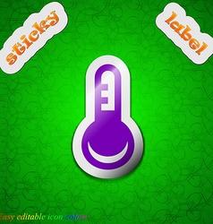 Thermometer temperature icon sign symbol chic vector
