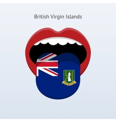 British virgin islands language human tongue vector