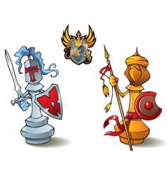 Chess set bishops vector