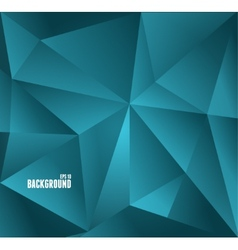 Abstract dark blue triangle background vector