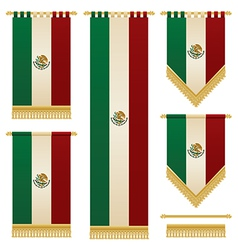 Mexican banners vector